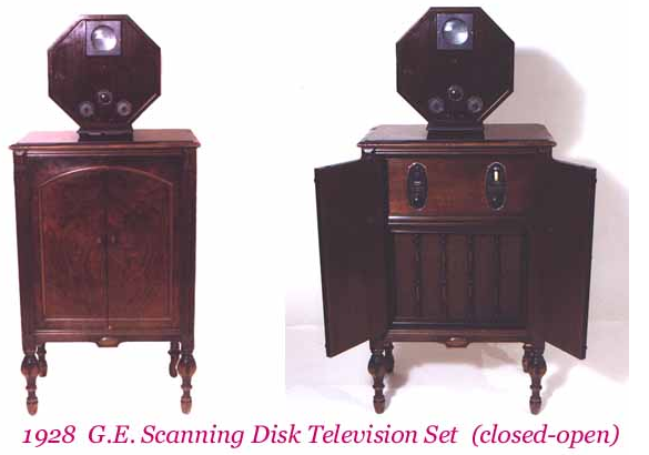 TV 1928 G.E.Scanning Disk Television Set